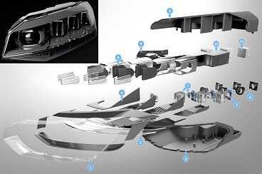 Фотография Volkswagen устанавливает интерактивные матричные фары