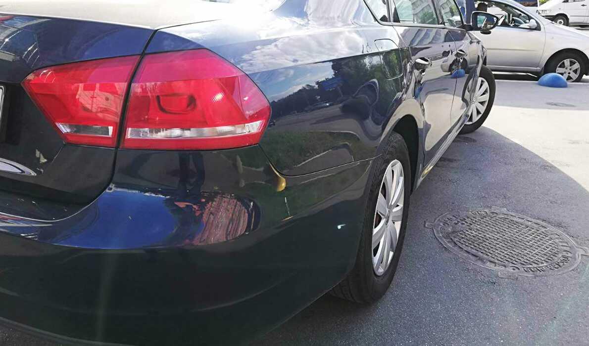 покраска и рихтовка переднего и заднего бамперов VOLKSWAGEN PASSAT 2012