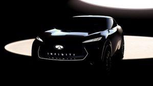 Фото На концептуальном снимке электромобиль Infiniti