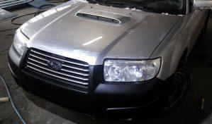 Фото Subaru Forester Turbo silver - замена, покраска, рихтовка