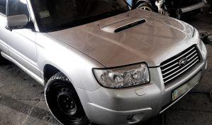 Subaru Forester Turbo silver - замена, покраска, рихтовка - изображение
