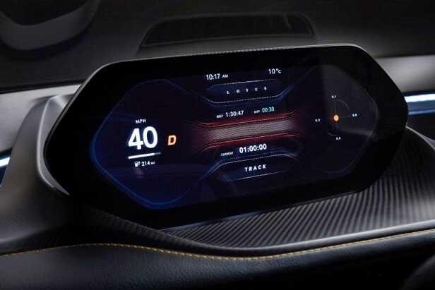 Фото Новый гиперкар от Lotus Evija - цифровая панель